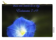 Blue Morning Glory Carry-all Pouch