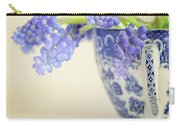 Blue Muscari Flowers In Blue And White China Cup Carry-all Pouch