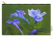 Blue On Green Carry-all Pouch