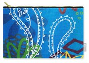 Blue Paisley Garden Carry-all Pouch