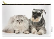 Blue-point Kitten & Miniature Schnauzer Carry-all Pouch