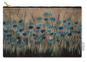 Blue Poppies And Gold Wheat Carry-all Pouch