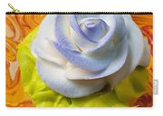 Blue Rose Cup Cake Carry-all Pouch