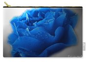 Blue Rose With Drops Carry-all Pouch