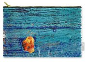 Blue Rusted Steel Painted Background Carry-all Pouch