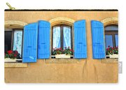 Blue Shutters In Provence Carry-all Pouch