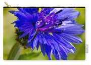 Blue Single Cornflower Carry-all Pouch