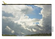 Blue Sky And Building Storm Clouds Fiane Art Print Carry-all Pouch