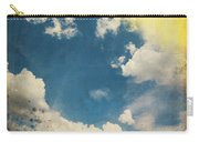 Blue Sky On Old Grunge Paper Carry-all Pouch