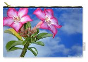 Blue Sky Pink Flower Carry-all Pouch