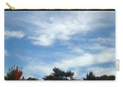 Blue Sky White Clouds Autumn Prints Carry-all Pouch
