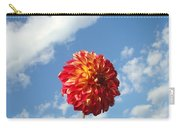 Blue Sky White Clouds Floral Art Prints Dahlia Flowers Carry-all Pouch