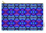 Blue Turquoise And Purple Carry-all Pouch