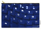 Blue Warped Keyboard Carry-all Pouch