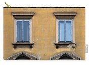Blue Windows On A Yellow Wall In Milan Carry-all Pouch