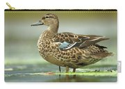 Blue-winged Teal Anas Discors Female Carry-all Pouch