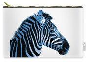 Blue Zebra Art Carry-all Pouch by Rebecca Margraf