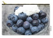 Blueberries And Cottage Cheese Carry-all Pouch