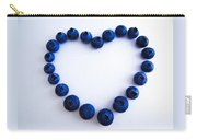 Blueberry Heart Carry-all Pouch by Julia Wilcox