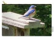 Bluebirds Make Me Happy Carry-all Pouch