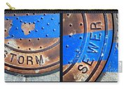 Bluer Sewer Diptych Carry-all Pouch