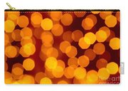 Blurred Christmas Lights Carry-all Pouch by Carlos Caetano