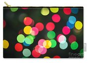 Blurred Christmas Lights Carry-all Pouch