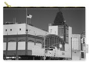 Bmt End Of The Line In Black And White Carry-all Pouch
