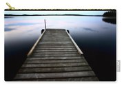 Boat Dock At Smallfish Lake In Scenic Saskatchewan Carry-all Pouch
