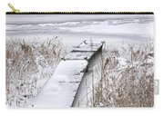 Boat Dock In Winter On A Lake No.0243 Carry-all Pouch