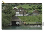 Boat House On A Mountain Slope On The Shore Of Lake Lucerne In Switzerland Carry-all Pouch
