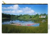 Boat Moored At A Harbor, Ellens Rock Carry-all Pouch