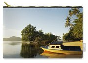 Boat On Sandy Beach Carry-all Pouch