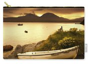 Boat On The Shore At Sunset, Island Of Carry-all Pouch