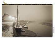 Boat On Wintry Quay Carry-all Pouch