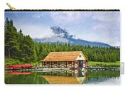 Boathouse On Mountain Lake Carry-all Pouch