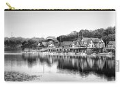 Boathouse Row In Black And White Carry-all Pouch