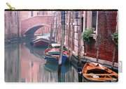 Boats Bridge And Reflections In A Venice Canal Carry-all Pouch