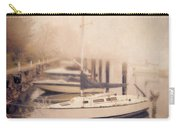 Boats In Foggy Harbor Carry-all Pouch