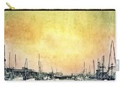 Boats In The Harbor Carry-all Pouch by Jill Battaglia
