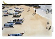 Boats On The Beach Carry-all Pouch by Lucy Willis