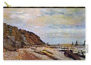 Boatyard Near Honfleur Carry-all Pouch by Claude Monet