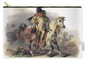 Bodmer: Blackfoot Horseman Carry-all Pouch