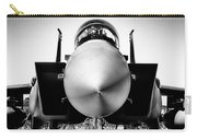 Boeing F-15sg Eagle Black And White Carry-all Pouch