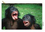 Bonobo Pan Paniscus Juvenile Pair Carry-all Pouch