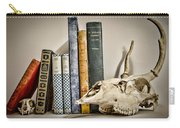 Books And Bones Carry-all Pouch by Heather Applegate