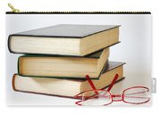 Books And Glasses Carry-all Pouch by Carlos Caetano