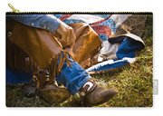 Boots And Quilt On The Trail Carry-all Pouch