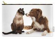 Border Collie & Siamese Cat Carry-all Pouch