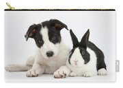 Border Collie Pup And Dutch Rabbit Carry-all Pouch